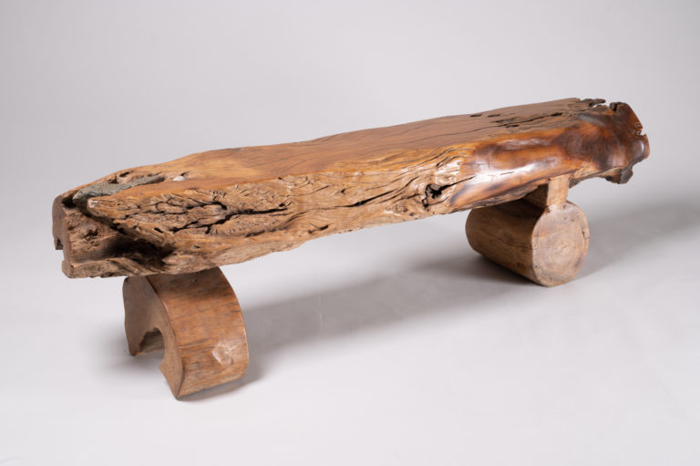 Japanese furniture, natural wood bench, wood bench, Japanese bench