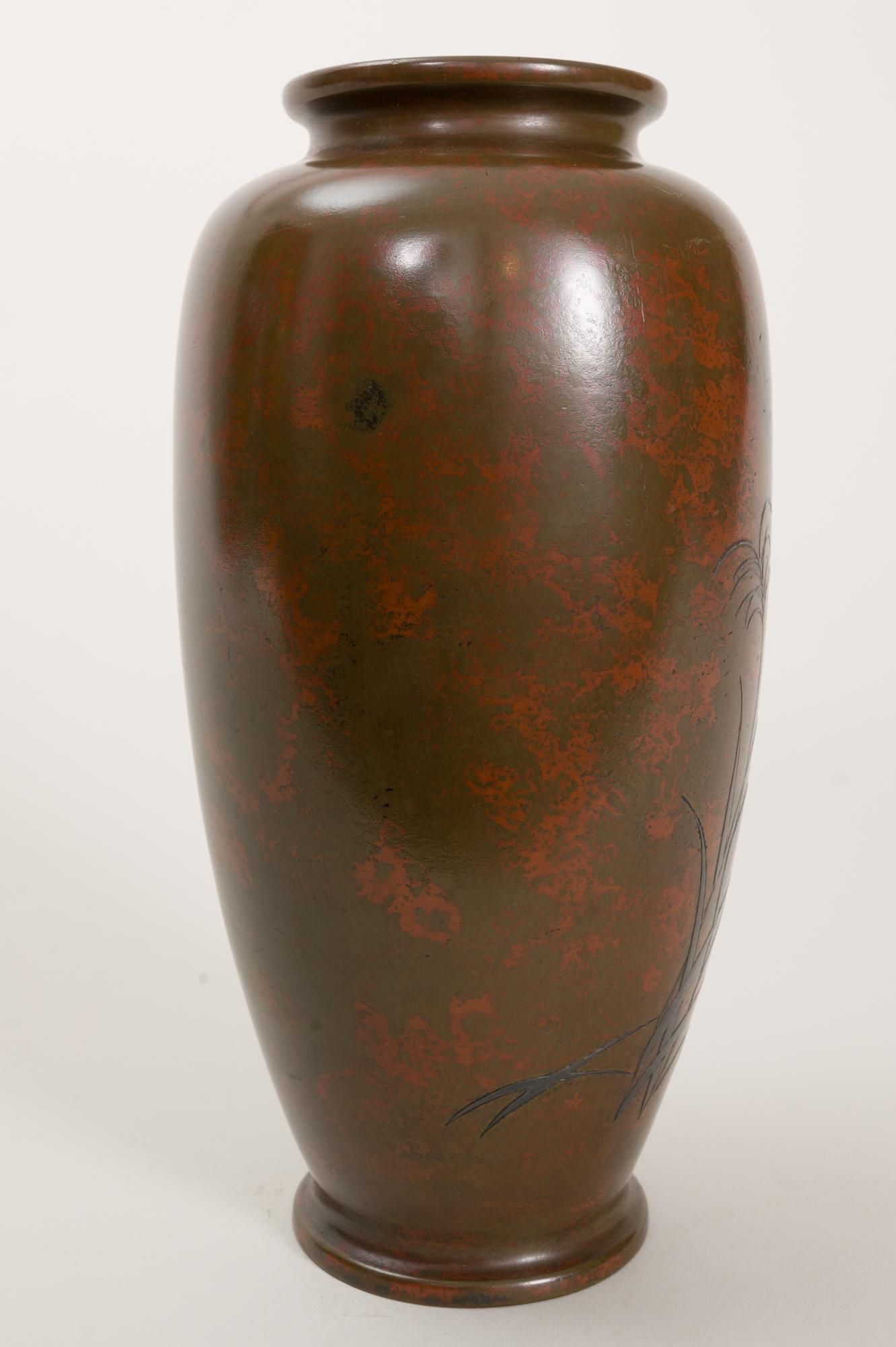 Japanese bronze vase, Japanese bronze, Japanese vase, antique bronze vase, antique vase,