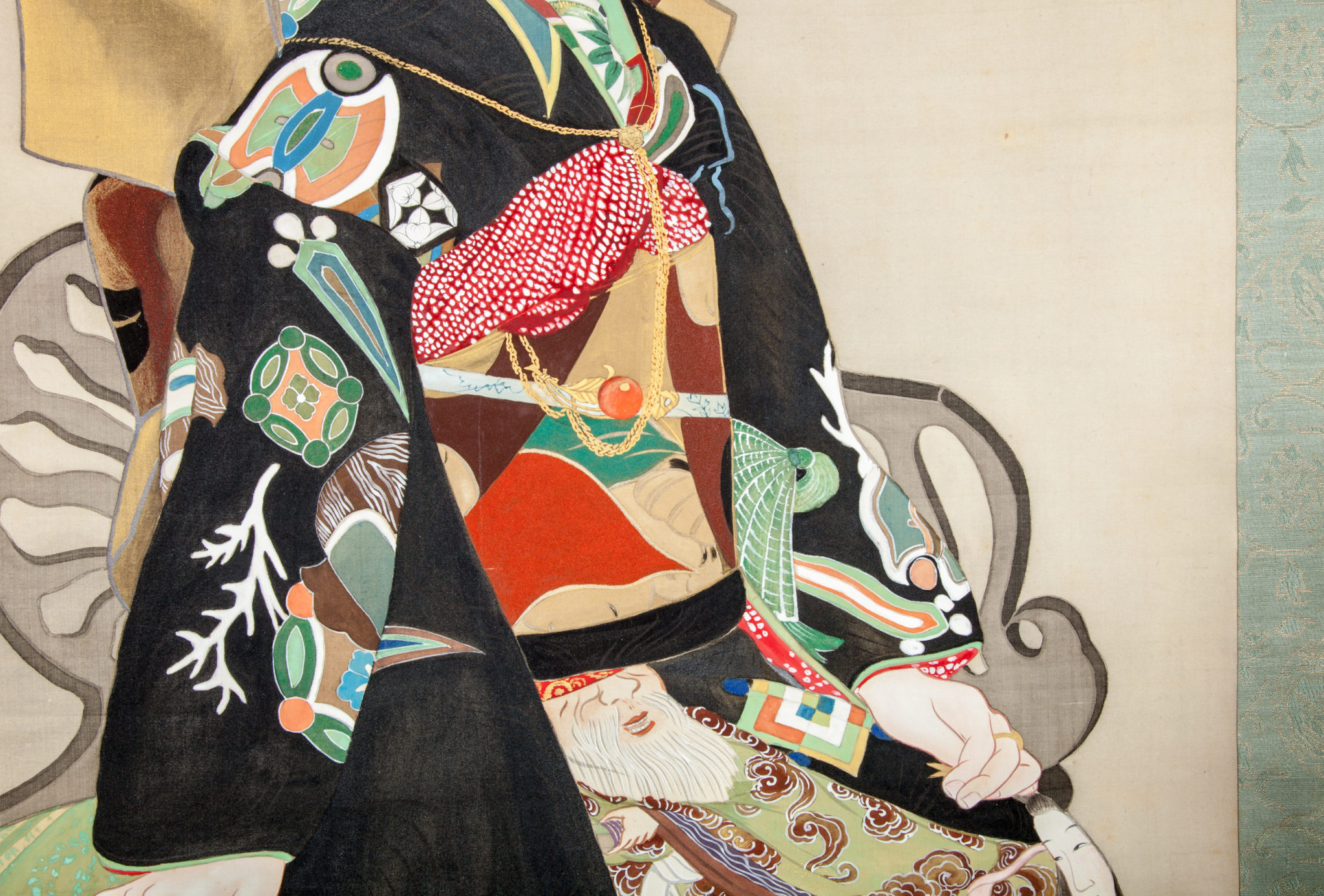 "Japanese Scroll: ""Oiran"" ( A Courtesan)"