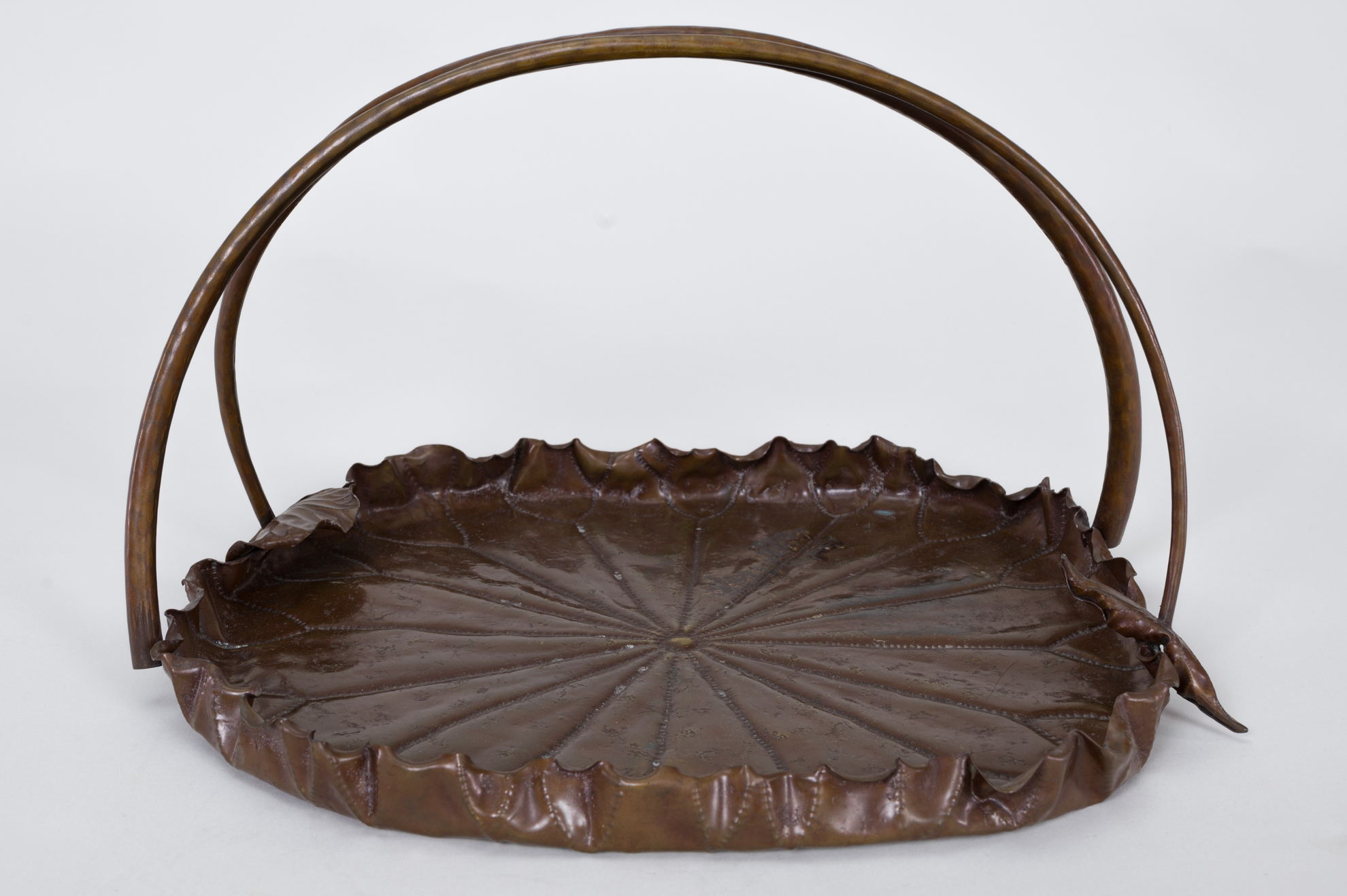 Japanese art, Japanese antique, Japanese bronze, Japanese tray, metal tray