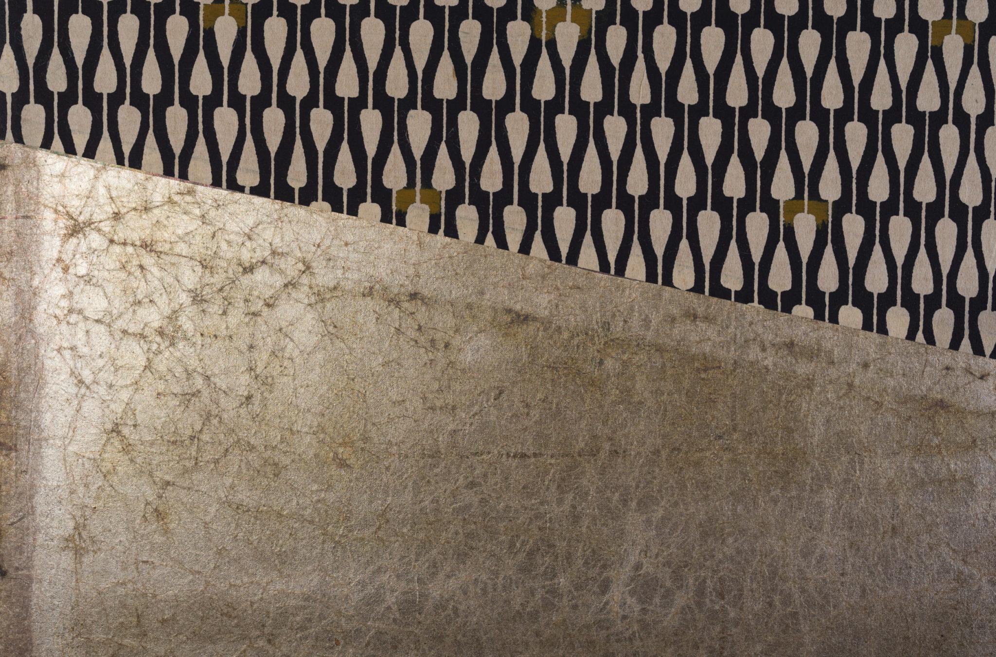 Japanese Two Panel Screen: Modern Abstract Furosaki Screen (Tea Screen)