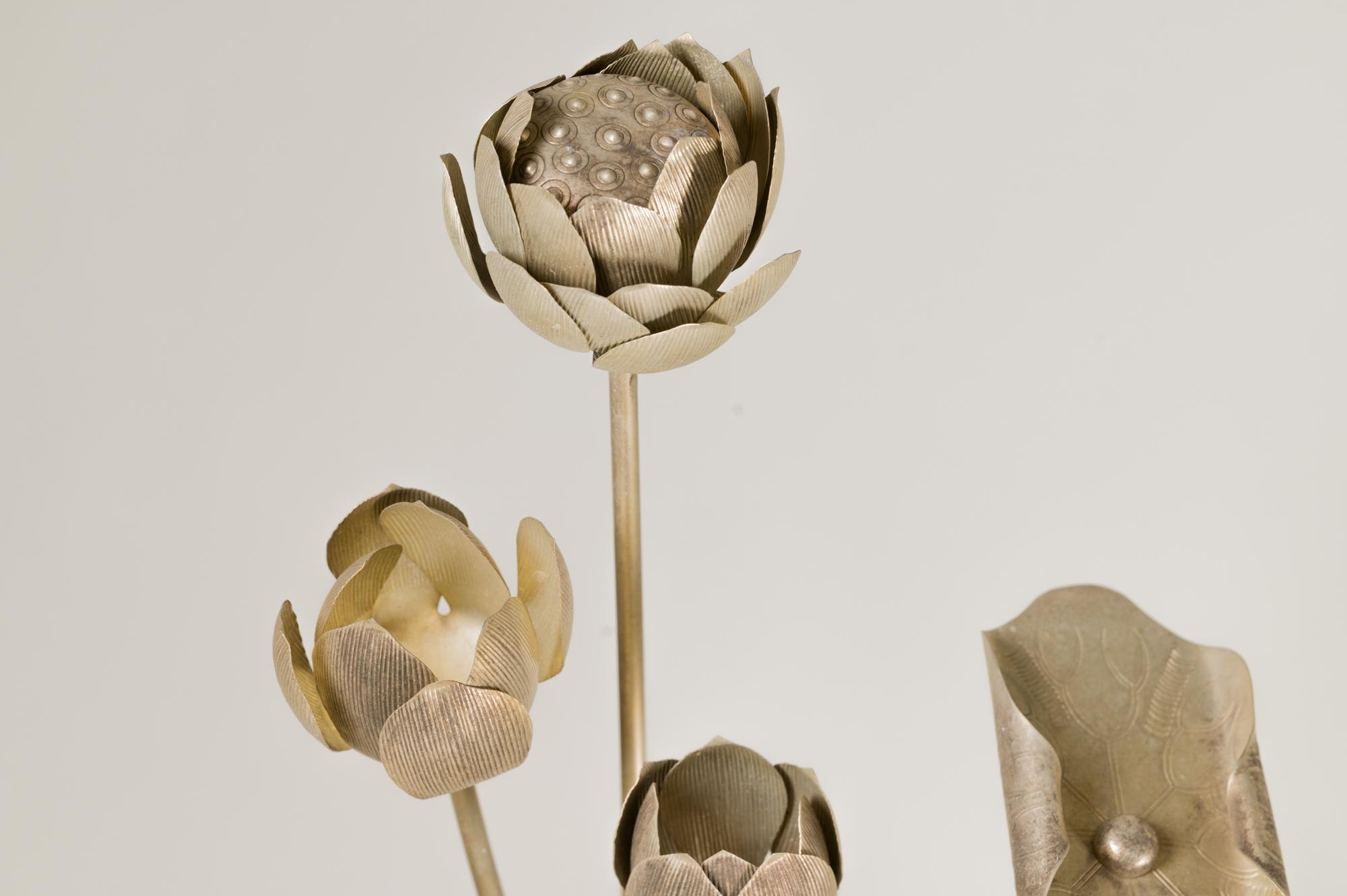 Buddhist Metal Temple Flowers
