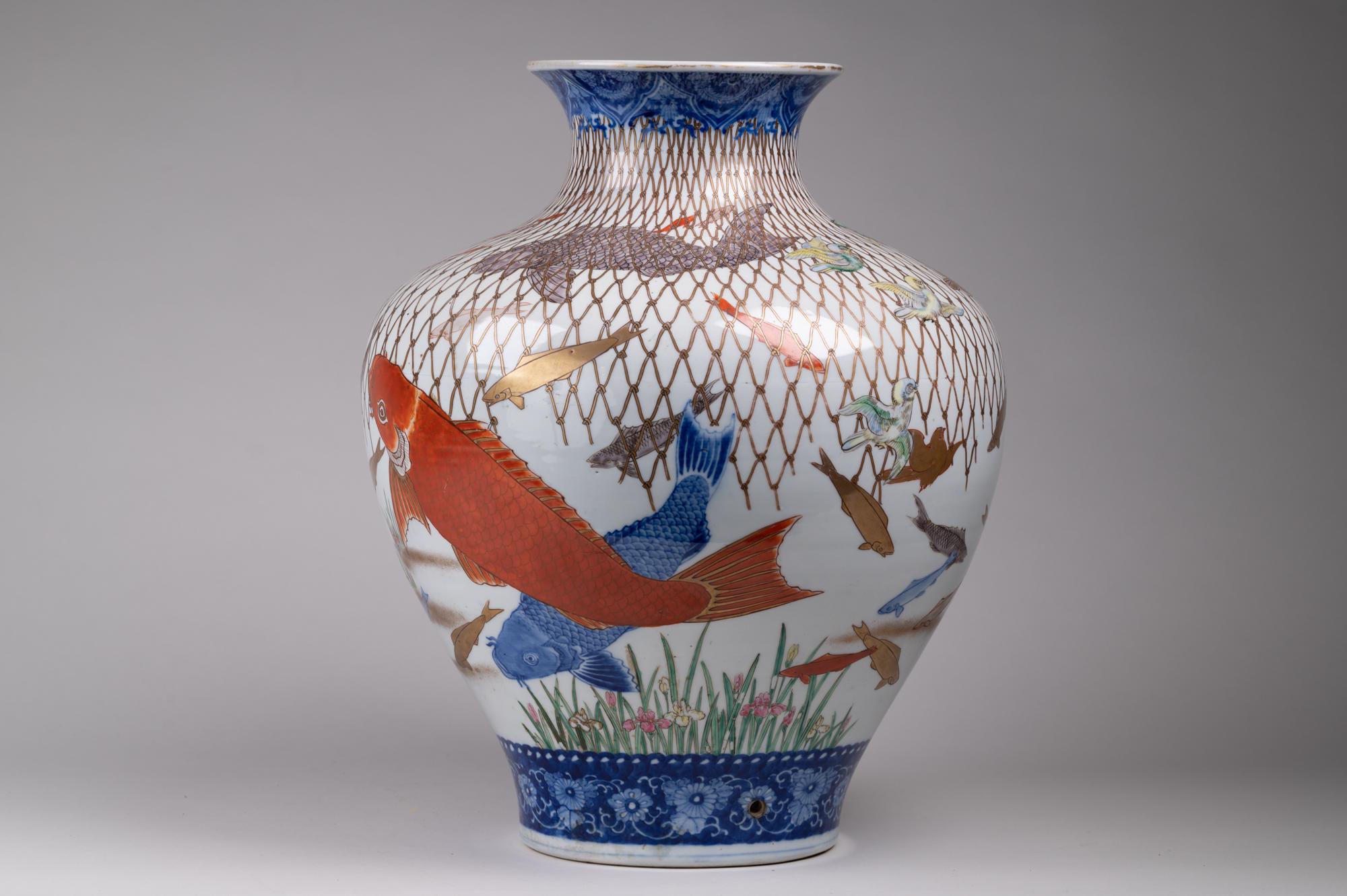 Japanese Vase, Japanese Antique, Imari, Imari Vase
