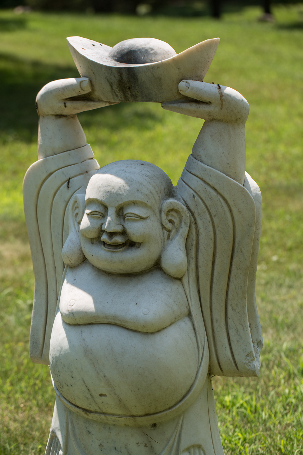 Chinese Sculpture of Welcoming and Happy Buddha