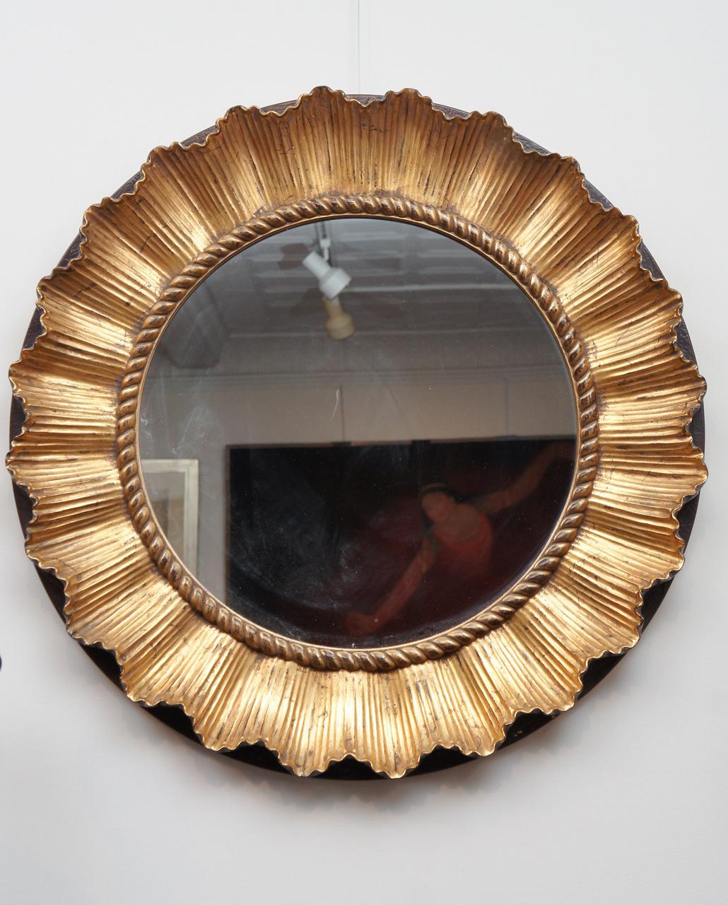 Round French Mirror