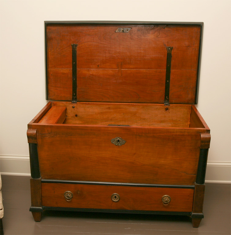 Biedermeier Walnut Trunk
