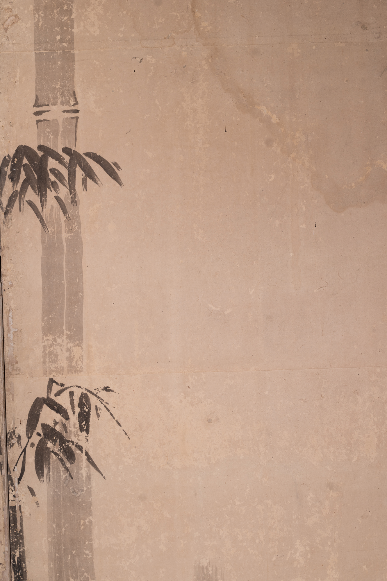 Japanese Six Panel Screen: Scholars in a Bamboo Forest
