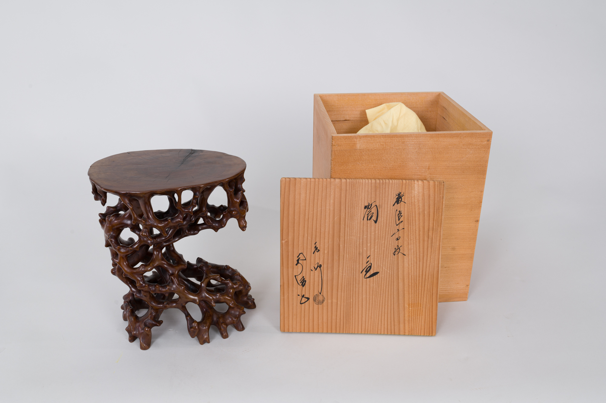 Japanese antique, Japanese art, Japanese root stand