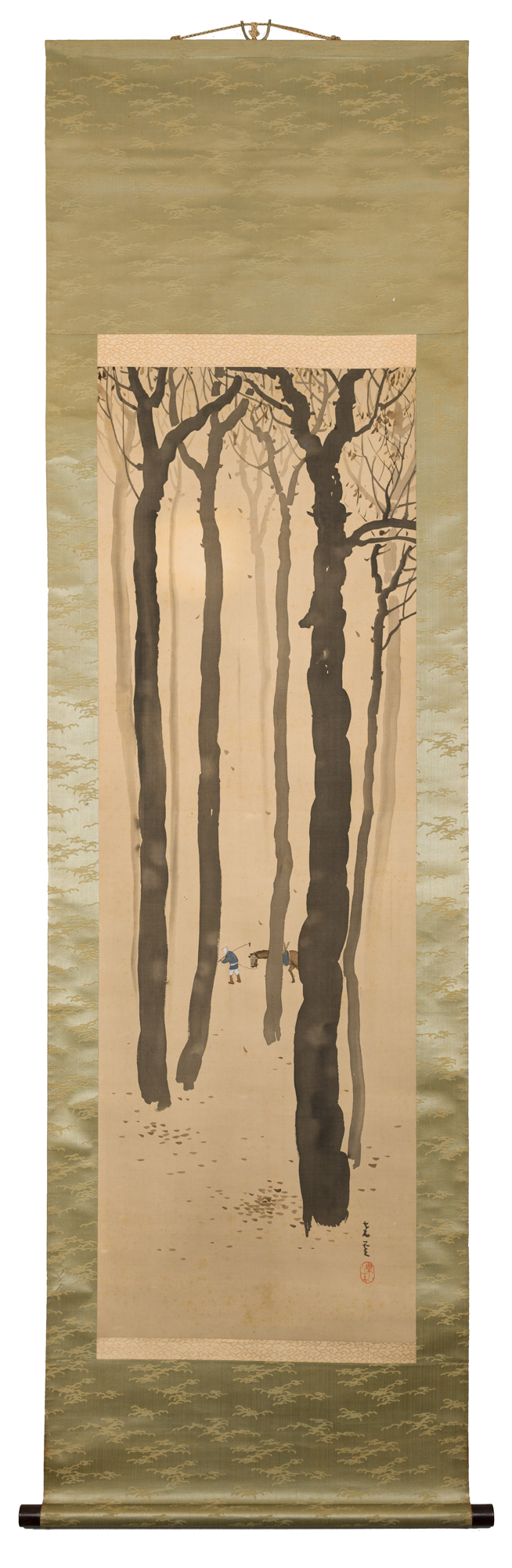 Japanese scroll, Japanese antique, Japanese art, Japanese painting