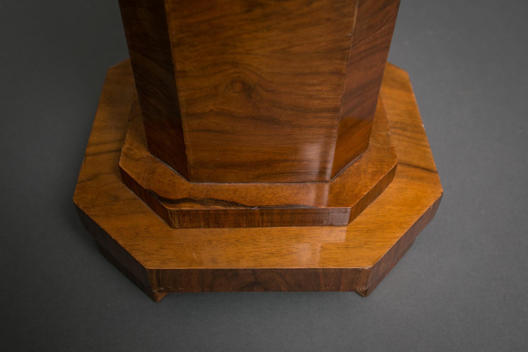 Art Deco Walnut Pedestal