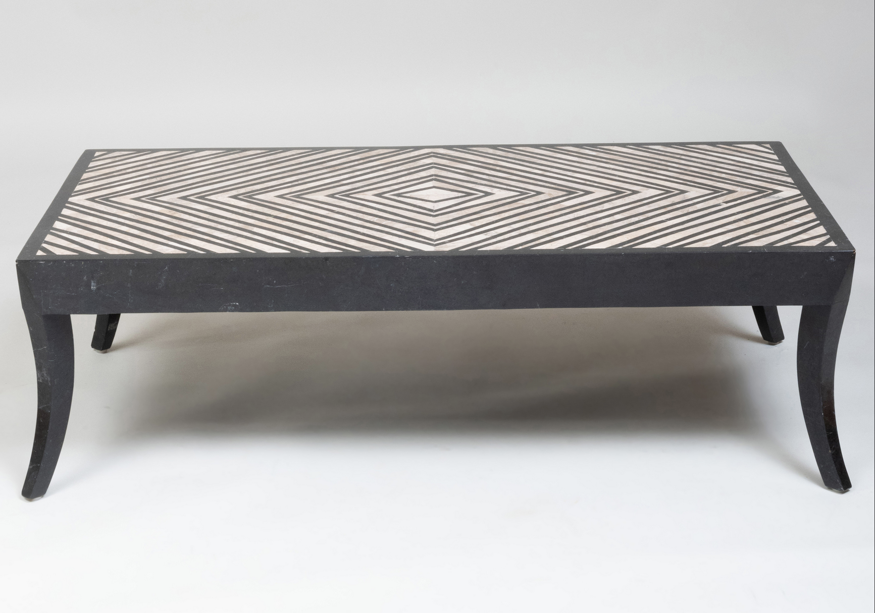 French Marble Inlay Cocktail Table