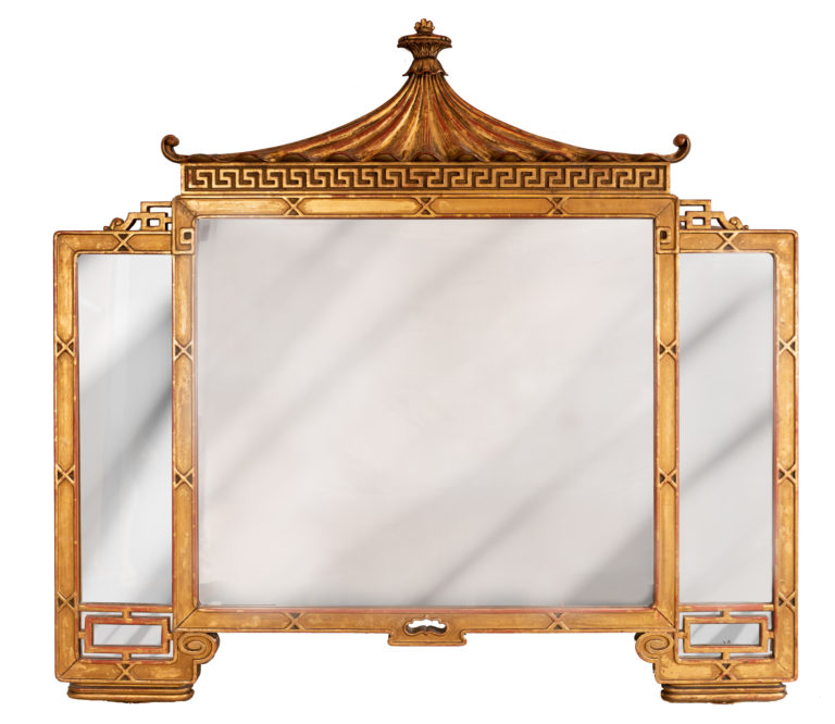 mirror, chinoiserie, gilt mirror