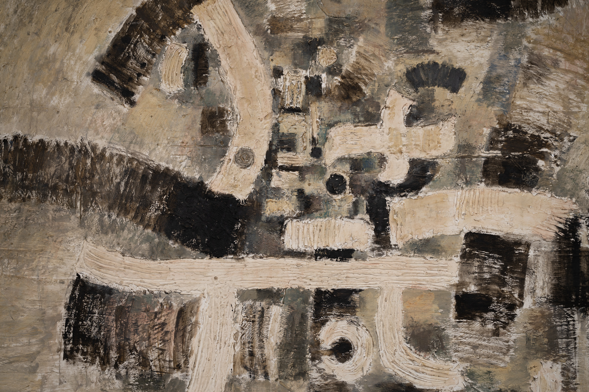Japanese Single Panel Painting:  Formal Abstraction