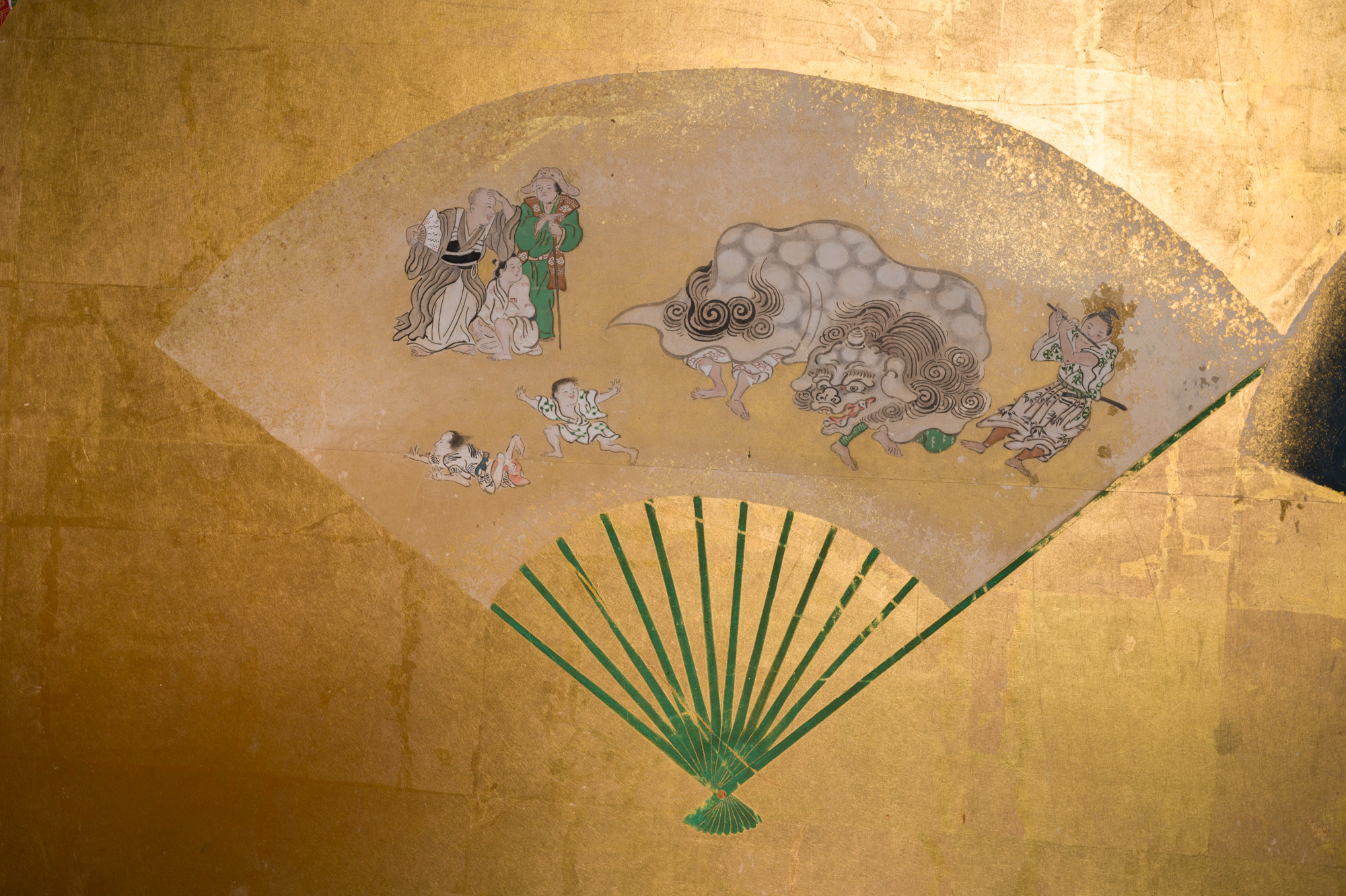 Japanese Six Panel Screen: Scattered Fans