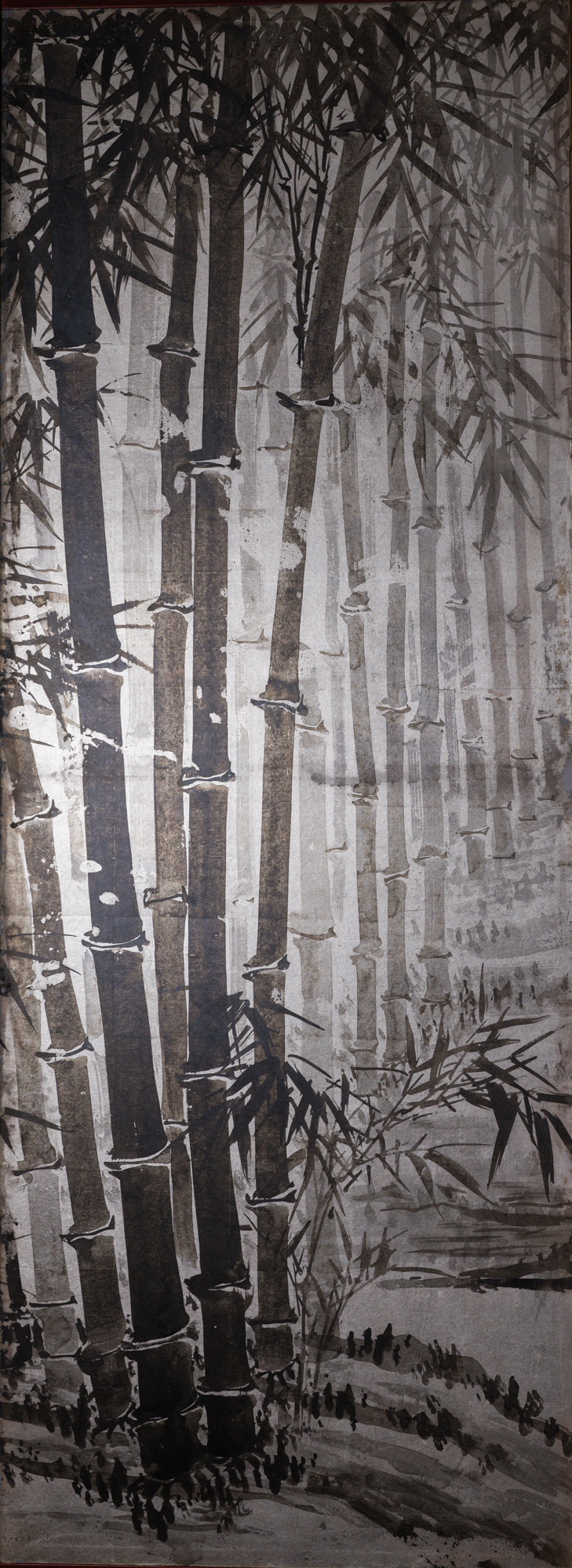 Japanese Six Panel Screen: Bamboo Forest in Kyoto