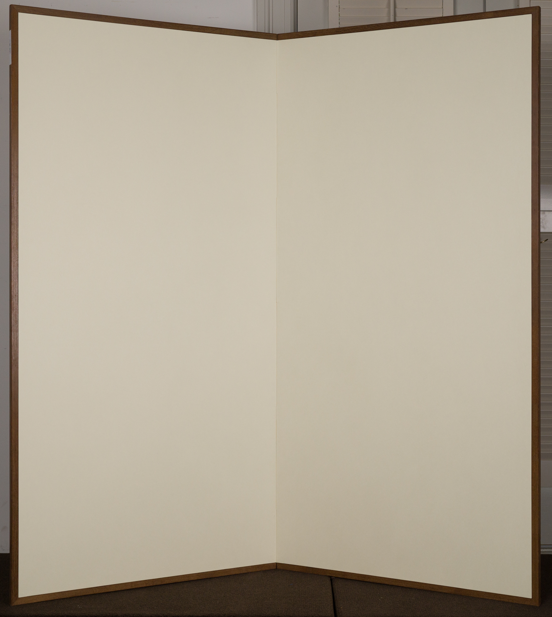 Japanese Two Panel Screen: Plain Mulberry Paper