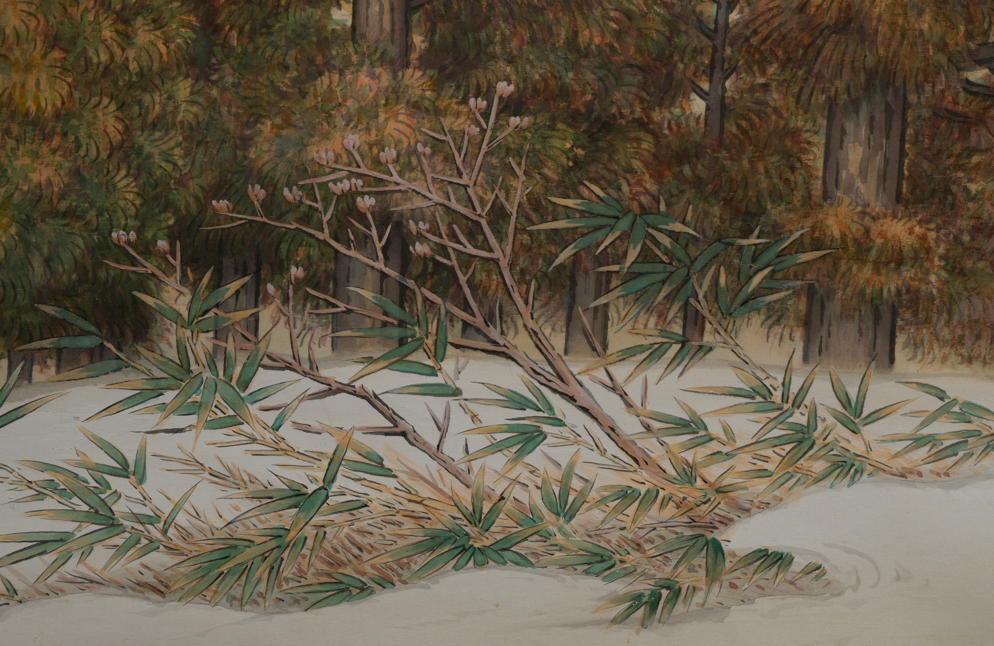 Scroll: Snowy Mountain Landscape