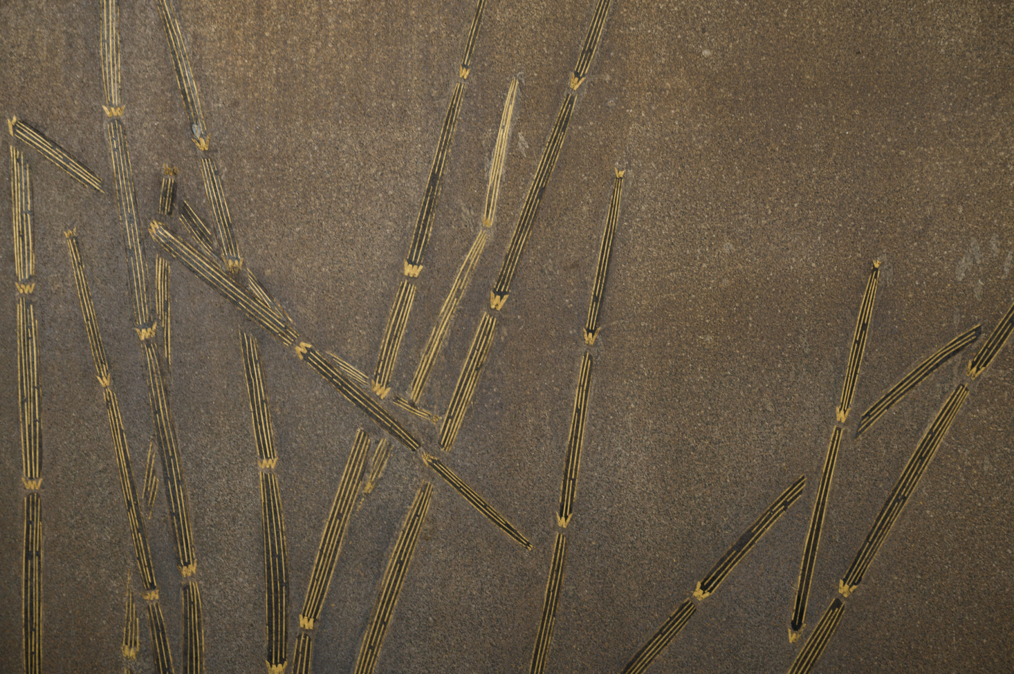 Japanese Two Panel Screen: Wetlands Flora on Silver Leaf