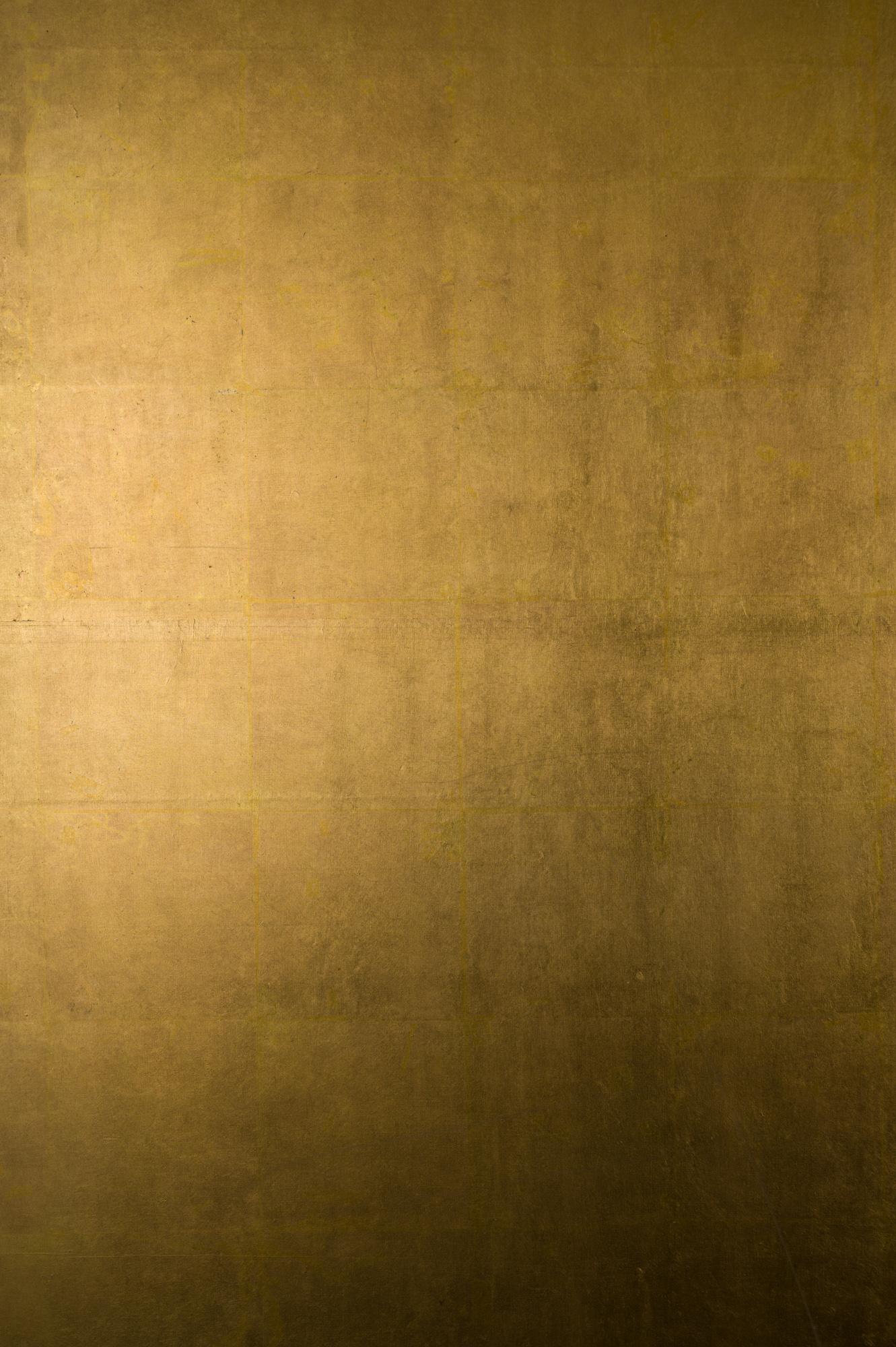 Japanese Six Panel Screen: Plain Gold Leaf (no image)