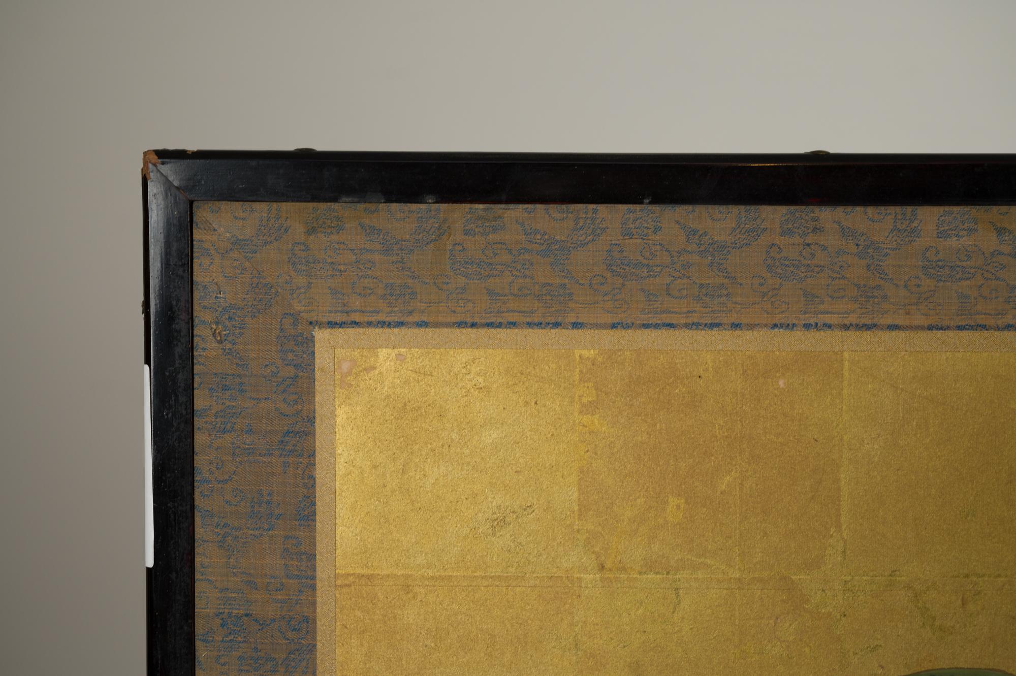 Pair of Japanese Six Panel Screens: Four Seasons